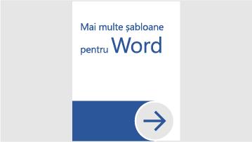 Mai multe șabloane pentru Word
