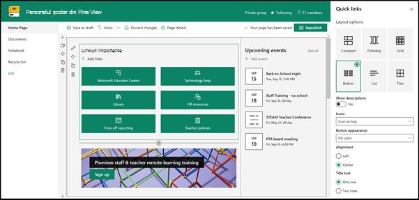 Linkuri rapide pentru cadrele didactice