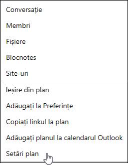 Obțineți un e-mail despre un plan