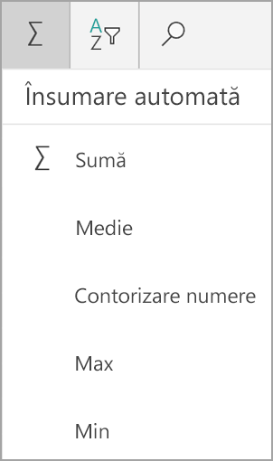 Tabletă Windows Excel Sum