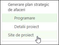 Site de proiect în Lansare rapidă