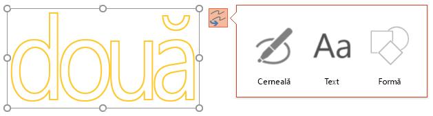 Conversie cerneală Your Arată ce tip de obiect pe care îl puteți încerca pentru a efectua conversia obiectul selectat la.