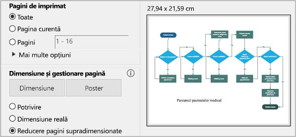 Caseta de dialog Imprimare în PDF