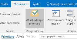 Caracteristica Outlook Mesaje prioritare