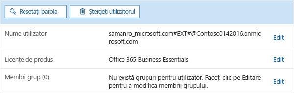 Editați atribuirea de licențe a unui utilizator.