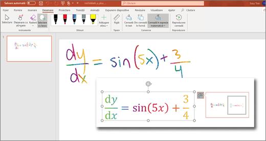 Cerneală în expresie matematică