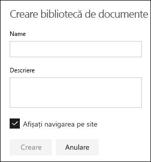 Detalii despre Biblioteca de documente