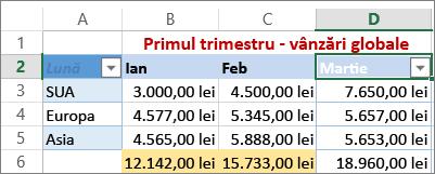 aplicați filtrul particularizat pentru valori numerice