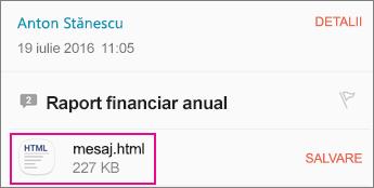 Vizualizator OME cu aplicația de E-mail Android 1