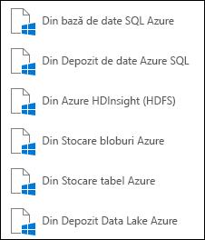 Preluarea datelor din Microsoft Azure