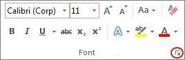 lansator casetă de dialog font