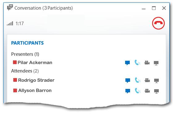 Listă de participanți