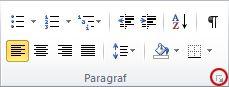 Generatorul casetei de dialog Paragraf