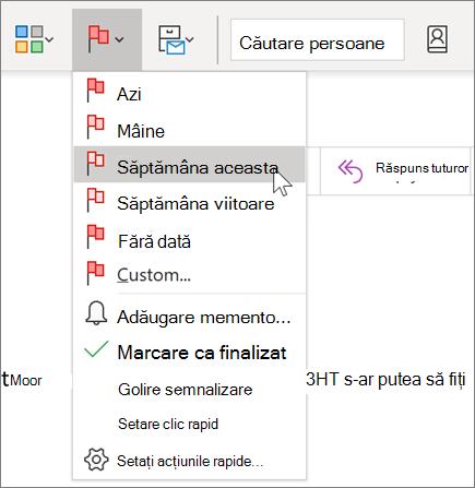 Semnalizarea unui mesaj pentru urmărire în Outlook