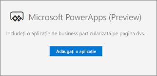 Butonul Adăugați o aplicație