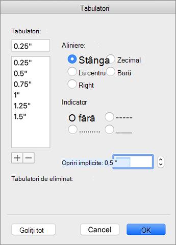 Caseta de dialog a filei Mac