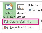 Setarea unei referințe pentru proiectul dvs.