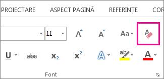 Butonul Anulare totală formate