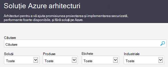 Site-ul Azure Architecture Solutions
