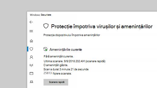 Protecție împotriva virușilor și amenințărilor