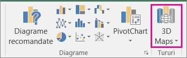 Opțiunea Hartă 3D din Excel