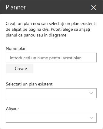 Planificator de set de instrumente parte web