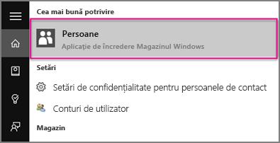 Tastați Persoane în Windows 10
