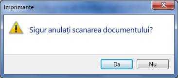 Confirmați că doriți să anulați imprimarea.
