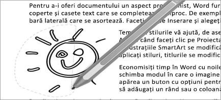 Afișează selectare cu lasou în document