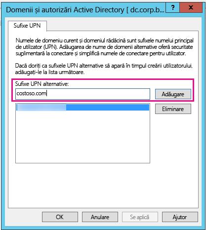 Adăugarea unui nou sufix UPN