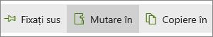 Butonul MoveTo din meniul principal