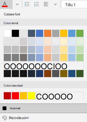 Opțiuni pentru culoarea fontului în mail pentru Windows 10