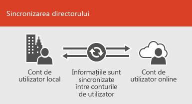 Utilizarea sincronizării de director pentru a menține sincronizate informațiile locale și informațiile de cont de utilizator online