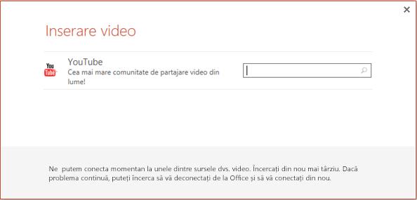 Aceasta este caseta de dialog Inserare videoclip online din PowerPoint 2013.