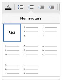 Stiluri de numerotare