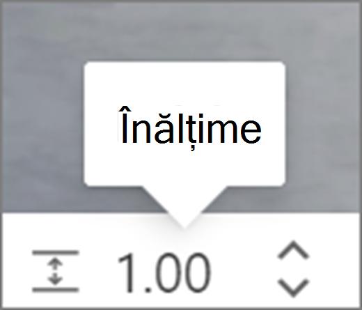 Interfața utilizator Înălțime