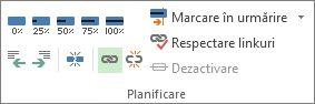 Butonul Conectare din grupul Programare de pe fila Activitate