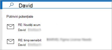 Afișați sugestiile de e-mail