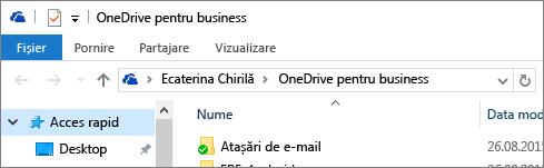 Vechiul client desktop OneDrive pentru business