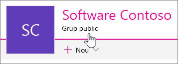 Subtitlul grup va afișa pe site-uri conectate de grup