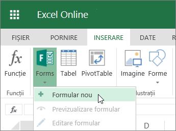 Formulare > Formular nou
