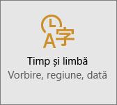 Setarea orei și a limbii în Windows 10