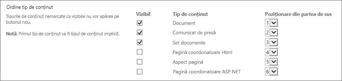 Document nou schimba ordinea sau a ascunde opțiunile ecran
