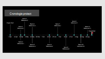 Un șablon de cronologie de proiect