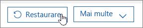 Restaurarea unui utilizator în Office 365.