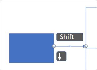 Deplasarea unui conector după pixeli