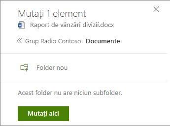 Creați folderul câmp cu persoanelor de contact