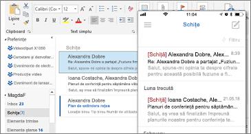 Folderul Schițe pe desktop și pe telefon