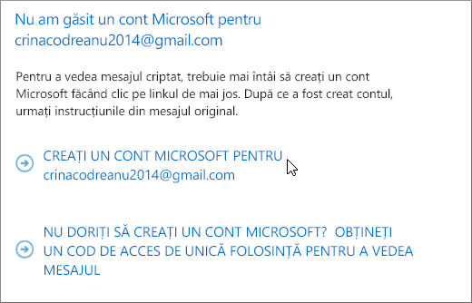 Creați un cont Microsoft