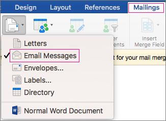 e-mail cu îmbinarea corespondenței